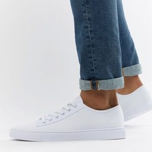 ASOS White Canvas Sneakers-NWOT-Sz 8